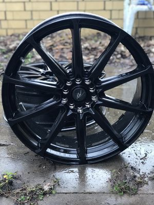 "20"" icw matte black rims for Sale in Austin, TX"