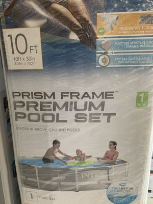 Intex 10ft x 30 Prism Frame Premium Pool Set for Sale in Pflugerville, TX