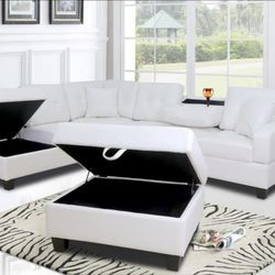 ♦️New Brand ▶️SPECIAL] Pablo White Sectional | U5300 🌟Instock 🌺 for Sale in Silver Spring,  MD