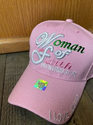 Pink hat woman of faith with verse proverbs 31:30 for Sale in Anaheim, CA