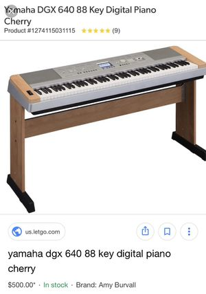 Yamaha DGX 640 88 Key Digital Piano with weighted keys for Sale in Los Angeles, CA