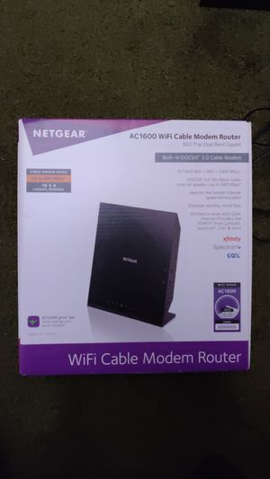 Netgear C6250 AC1600 WiFi Cable Modem Router for Sale in San Francisco, CA