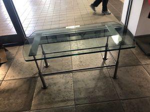 Glass Metal Base Display Coffee Table for Sale in Arlington, VA