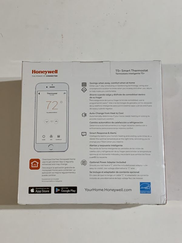 Honeywell Home T5 + Wi-Fi Touchscreen Smart Thermostat RCHT8612WF