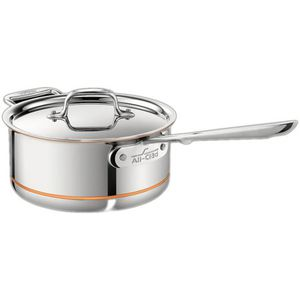 All-Clad #6202 SS 2qt 5-Ply Copper Core Saucepan w/ Lid for Sale in Montclair, CA