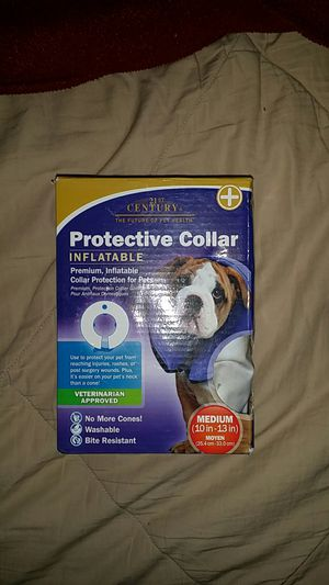 Dog blow up collar cone for Sale in Puyallup, WA