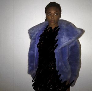 EXPRESS BLUE FUR HOODED COAT for Sale in Silver Spring, MD