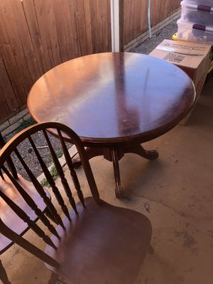 Wood Table and 3 chairs for Sale in Ontario, CA
