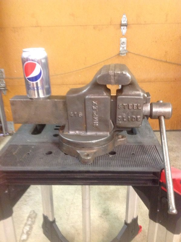 Simplex 41s Vise 4 14 Jaws Early 1950s Huge 50 Pounds Made In