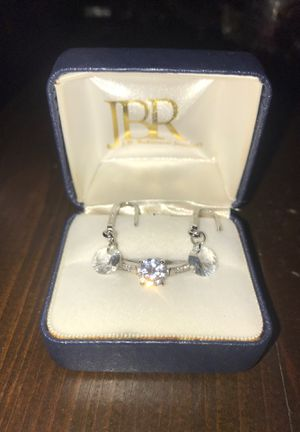 New 925 Silver CZ diamond Ring with matching earrings for Sale in Taylor, MI