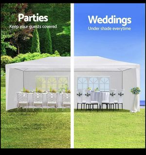 10'x20' Outdoor Canopy Party Wedding Tent White Gazebo Pavilion with6 Side Walls for Sale in Las Vegas, NV