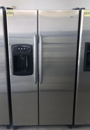 Comes with free 6 Months Warranty-26 cu. ft. Stainless steel Side by side refrigerator Maytag for Sale in Warren, MI