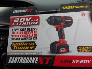 EarthQuakeXT, Tourqe Wrench, Cordless for Sale in San Diego, CA