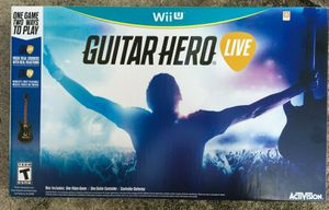 Guitar Hero Live Bundle Game & Wireless Guitar Controller for Wii U - Brand New for Sale in Orlando, FL