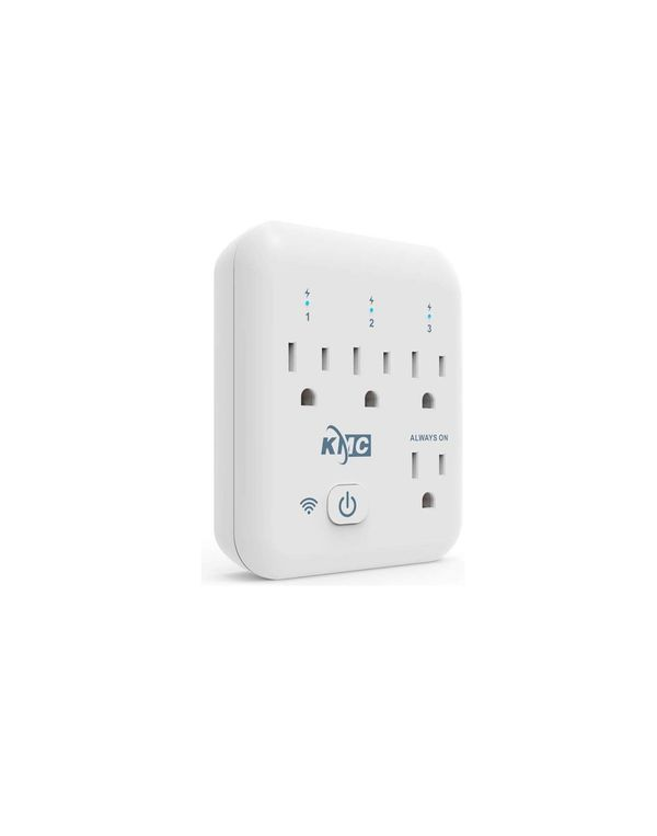 KMC 4 Outlet WiFi Smart Plug Energy Monitoring Smart Outlet, Remote Control Wall Surge Protector, No Hub Required, Works Amazon Alexa/Google Home