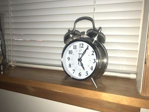 Sharp stainless steel alarm clock for Sale in Shoreline, WA
