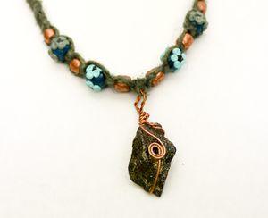 Green Hemp with Rock Charm Necklace for Sale in Spokane, WA