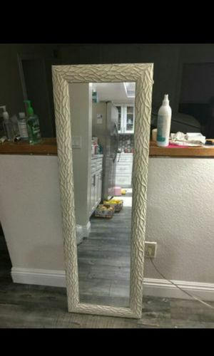 Mirror Full Body, Craft Design Frame, Solid Wood Like New for Sale in Industry, CA