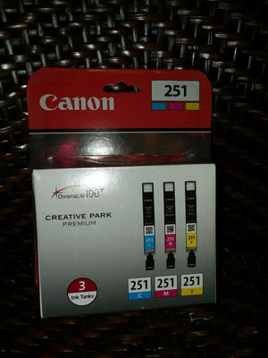 Cannon 251 Sealed multi color Ink for Sale in Chicago, IL