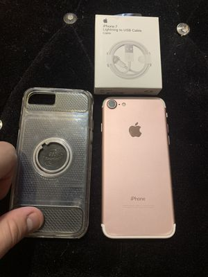 Selling iPHONE 7 128GB Rose Gold Unlocked for T-Mobile ATT Metro or Criket in Good Condition for Sale in Chicago, IL