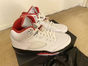 Nike Air Jordan Retro 5 Red Fire 2020 US size 10 for Sale in South El Monte, CA