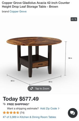 Drop leaf table + matching chairs for Sale in Arlington, VA