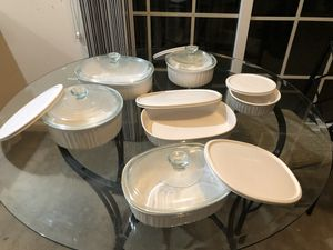 Corningware Dishes with Glass and plastic lids! for Sale in Dublin, OH