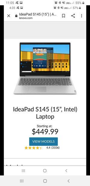Lenovo i5-8265u laptop for Sale in Houston, TX