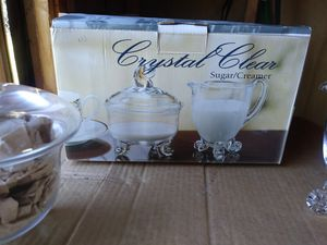 Crystal sugar and creamer for Sale in Avon Park, FL