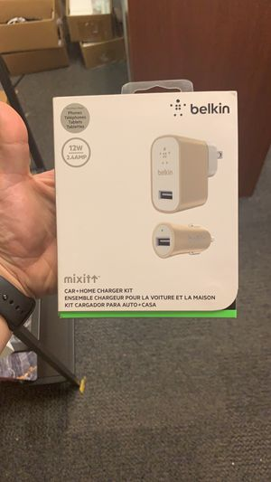BELKIN Oroginal MIXIT UP Car plus Home Lightning Charger Kit retail price 40$ for Sale in Orlando, FL