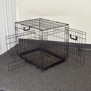 New in box 24x17x20 inches tall foldable 2 doors dog cage crate kennel 25 lbs capacity jaula de perro for Sale in Los Angeles, CA