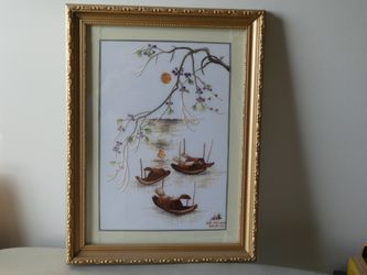 Asian Embroidery Picture for Sale in Fallston,  MD