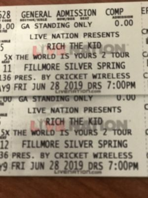 Rich The Kid Concert Tickets for Sale in Rockville, MD