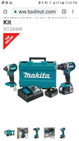 Makita lxt brushless drill set for Sale in San Jose, CA