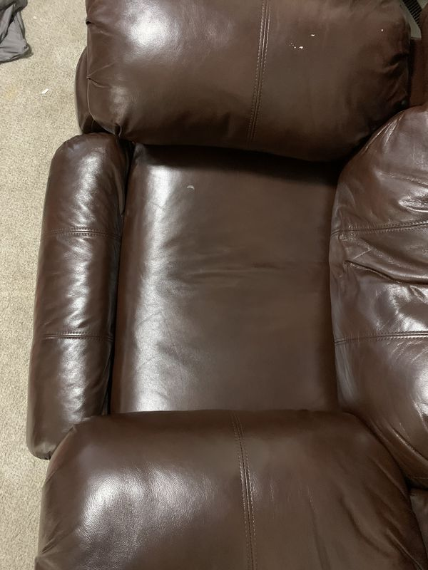 Leather Reclining Loveseat And Chair