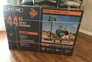 New Basketball hoop 44 Inch Backboard 7-10 ft Tall for Sale in Hoffman Estates, IL