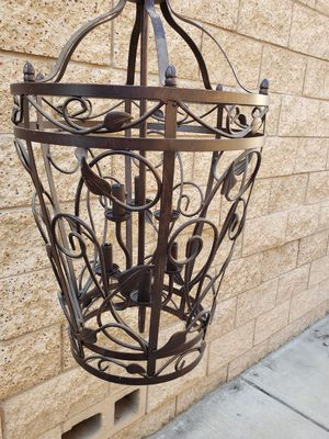 Iron Chandelier cage 6 bulbs heavy duty for Sale in Rancho Cucamonga, CA