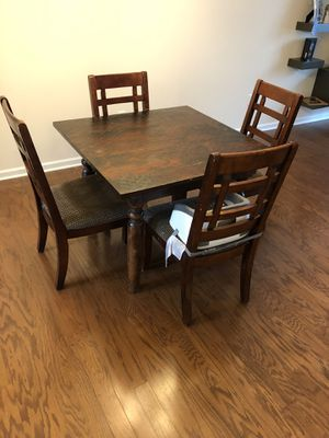 (Reduced!!!!!)Four person kitchen table set(Solid Wood) for Sale in Apex, NC