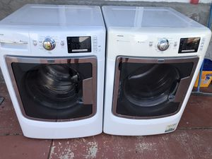 Washer and dryer front load like new, very good condition with warranty for Sale in Pembroke Pines, FL