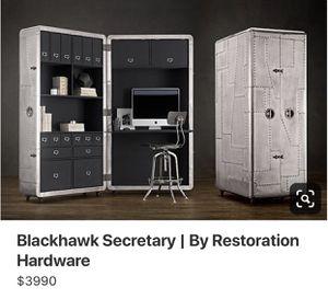 Restoration Hardware Blackhawk Secretary Desk for Sale in MORGANS POINT, TX