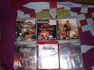 PS3 lot of 6 games for Sale in Everett, WA