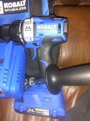 Kobalt 24 V max brushless drill & impact for Sale in Columbus, MS