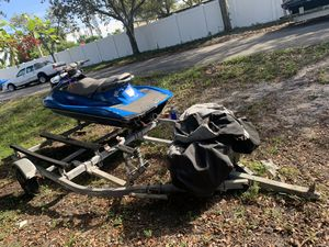 Double jet ski trailer for Sale in Hollywood, FL