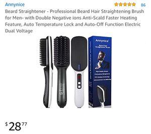 Professional Beard Hair Straightening Brush for Men for Sale in Modesto, CA