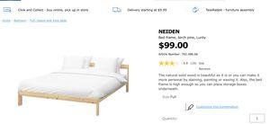 IKEA NEIDEN Full Bed Frame for Sale in East Lansing, MI