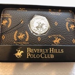 BEVERLY HILLS POLO CLUB FAUX LEATHER WRISTLET LADIES WALLET Brown for Sale in Las Vegas, NV