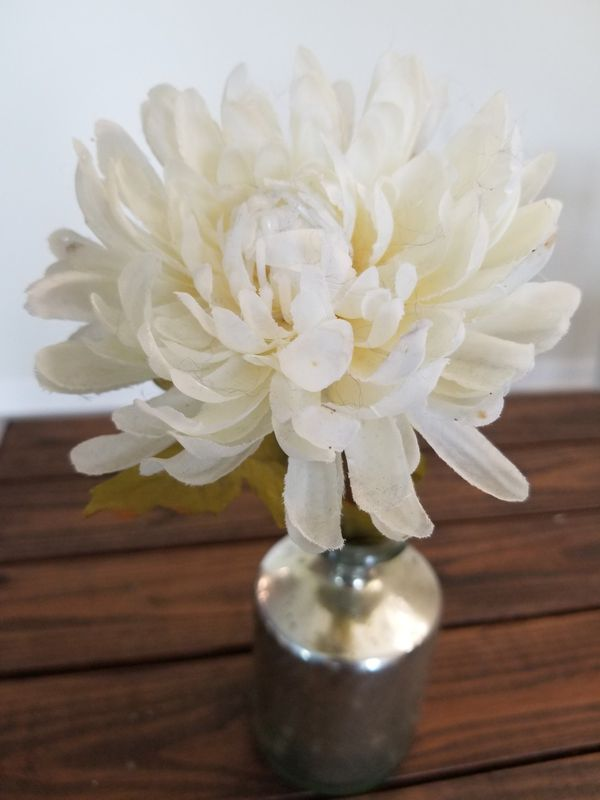 Flower Vase with Faux Flower