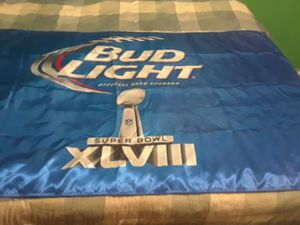 Super Bowl 48 Bud Light double sided banner for Sale in Little Rock, AR