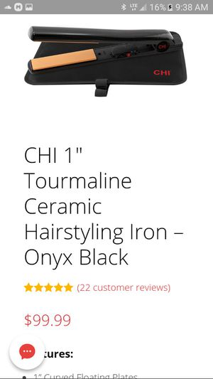 *BRAND NEW IN ORIGINAL BOX * Black into CHI flat iron for Sale in Temecula, CA