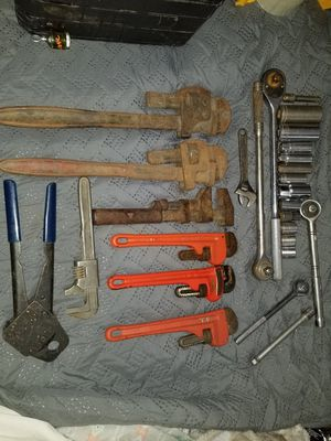 Huge variety of pipe wrenches and sockets for sale for Sale in Bountiful, UT